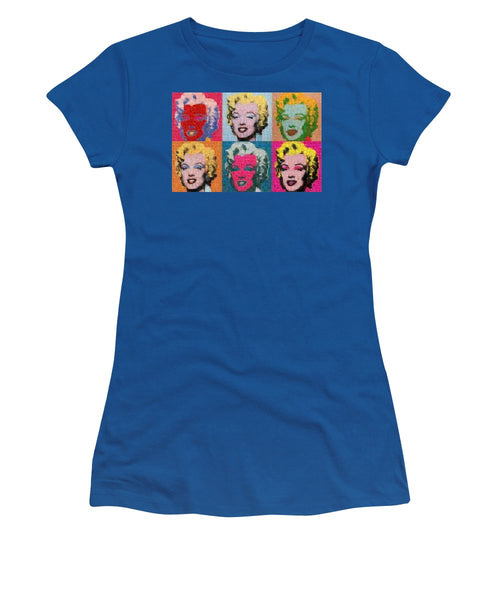 Tribute to Andy Warhol - 2 - Women's T-Shirt - ALEFBET - THE HEBREW LETTERS ART GALLERY