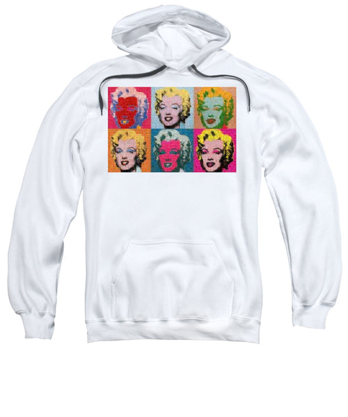 Tribute to Andy Warhol - 2 - Sweatshirt - ALEFBET - THE HEBREW LETTERS ART GALLERY
