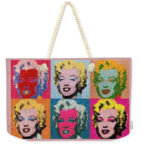 Tribute to Andy Warhol - 2 - Weekender Tote Bag - ALEFBET - THE HEBREW LETTERS ART GALLERY