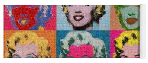 Tribute to Andy Warhol - 2 - Yoga Mat - ALEFBET - THE HEBREW LETTERS ART GALLERY
