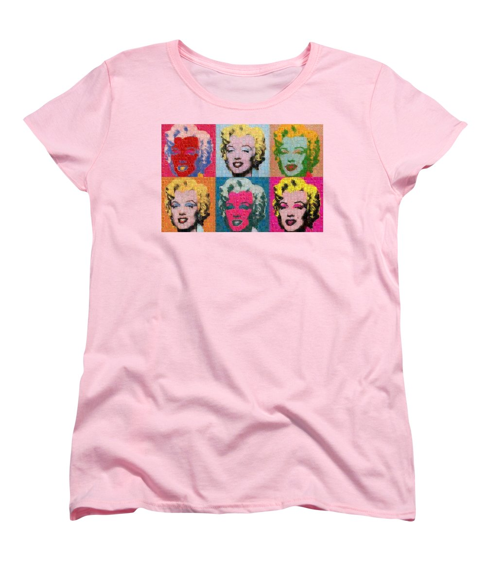 Tribute to Andy Warhol - 2 - Women's T-Shirt (Standard Fit) - ALEFBET - THE HEBREW LETTERS ART GALLERY