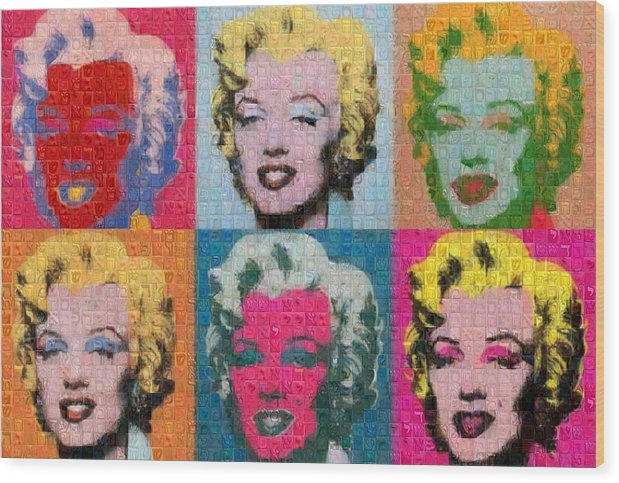 Tribute to Andy Warhol - 2 - Wood Print - ALEFBET - THE HEBREW LETTERS ART GALLERY