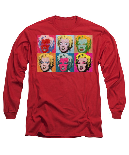 Tribute to Andy Warhol - 2 - Long Sleeve T-Shirt - ALEFBET - THE HEBREW LETTERS ART GALLERY