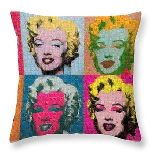 Tribute to Andy Warhol - 2 - Throw Pillow - ALEFBET - THE HEBREW LETTERS ART GALLERY