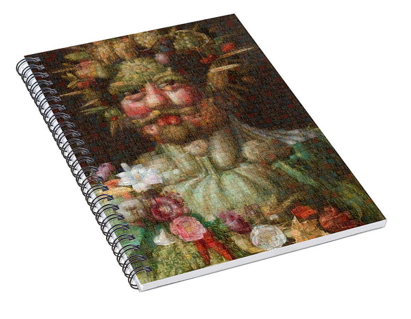 Tribute to Arcimboldo - 1 - Spiral Notebook - ALEFBET - THE HEBREW LETTERS ART GALLERY