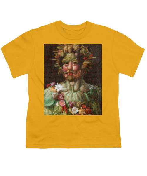Tribute to Arcimboldo - 1 - Youth T-Shirt - ALEFBET - THE HEBREW LETTERS ART GALLERY