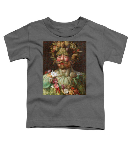 Tribute to Arcimboldo - 1 - Toddler T-Shirt - ALEFBET - THE HEBREW LETTERS ART GALLERY