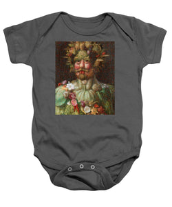 Tribute to Arcimboldo - 1 - Baby Onesie - ALEFBET - THE HEBREW LETTERS ART GALLERY