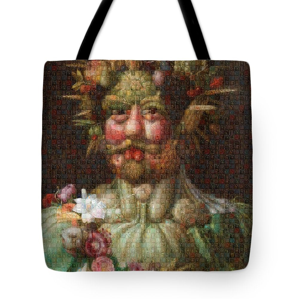 Tribute to Arcimboldo - 1 - Tote Bag - ALEFBET - THE HEBREW LETTERS ART GALLERY