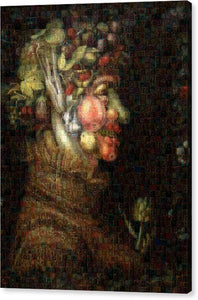 Tribute to Arcimboldo - 2 - Canvas Print - ALEFBET - THE HEBREW LETTERS ART GALLERY