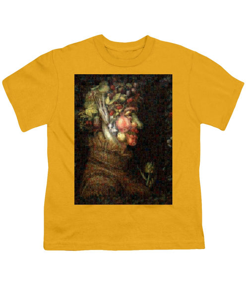 Tribute to Arcimboldo - 2 - Youth T-Shirt - ALEFBET - THE HEBREW LETTERS ART GALLERY