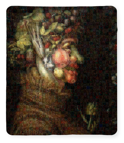 Tribute to Arcimboldo - 2 - Blanket - ALEFBET - THE HEBREW LETTERS ART GALLERY