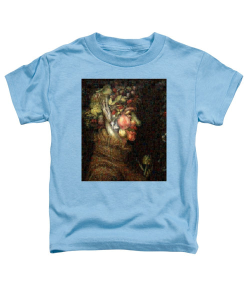Tribute to Arcimboldo - 2 - Toddler T-Shirt - ALEFBET - THE HEBREW LETTERS ART GALLERY
