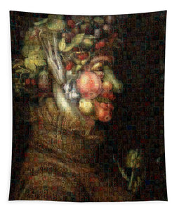 Tribute to Arcimboldo - 2 - Tapestry - ALEFBET - THE HEBREW LETTERS ART GALLERY