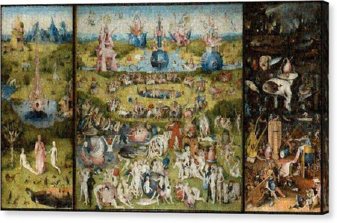 Tribute to Bosch - Canvas Print - ALEFBET - THE HEBREW LETTERS ART GALLERY