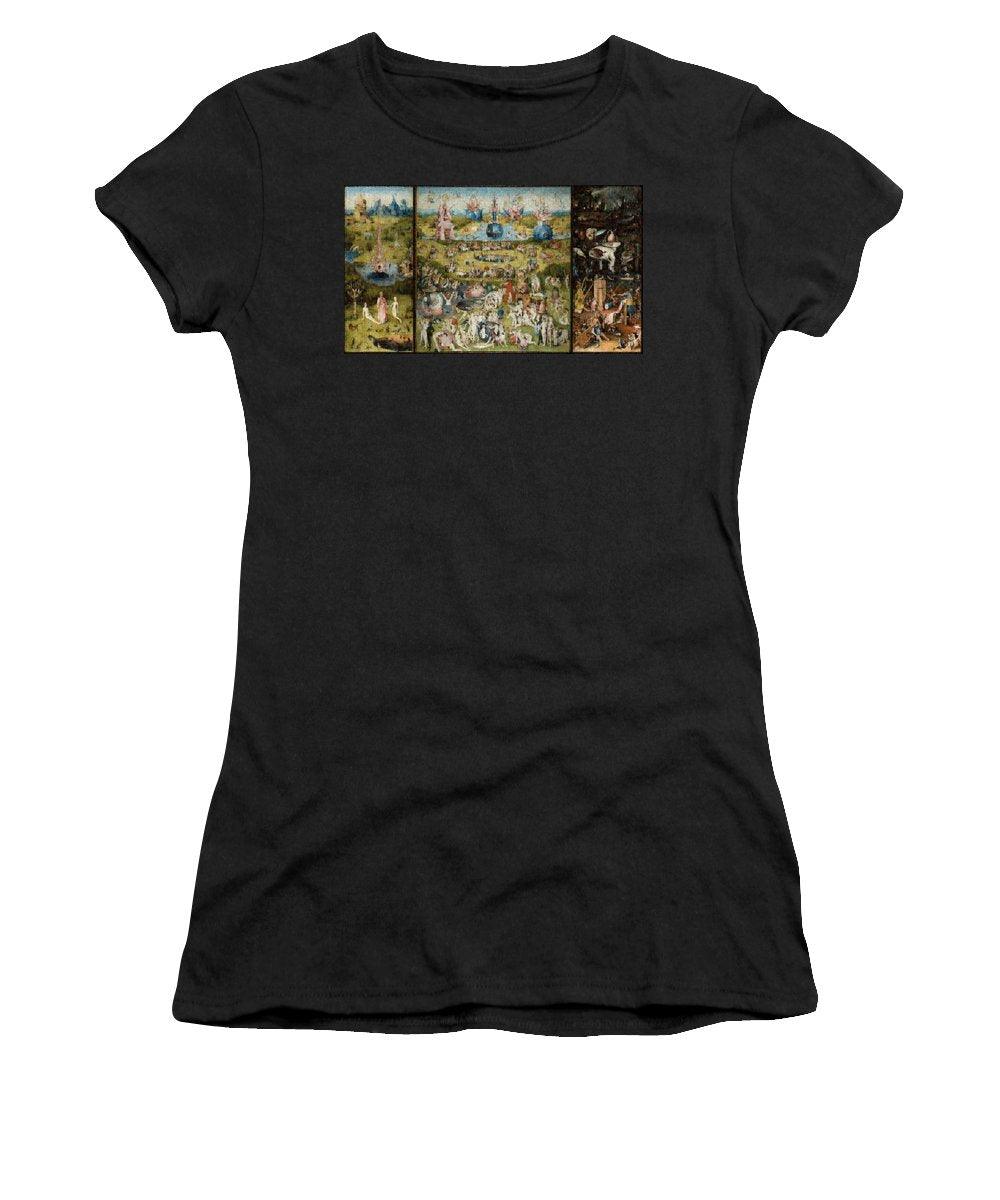 Tribute to Bosch - Women's T-Shirt - ALEFBET - THE HEBREW LETTERS ART GALLERY