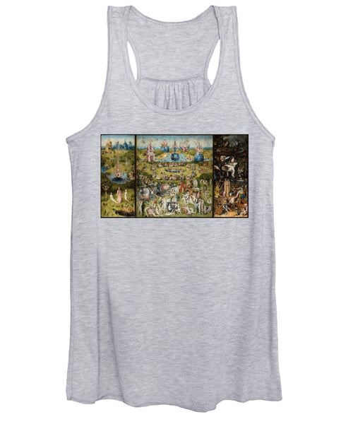Tribute to Bosch - Women's Tank Top - ALEFBET - THE HEBREW LETTERS ART GALLERY