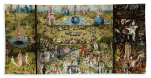 Tribute to Bosch - Bath Towel - ALEFBET - THE HEBREW LETTERS ART GALLERY
