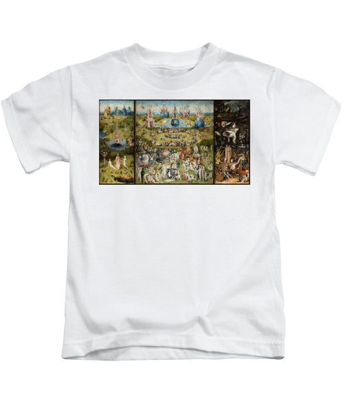 Tribute to Bosch - Kids T-Shirt - ALEFBET - THE HEBREW LETTERS ART GALLERY