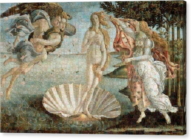 Tribute to Botticelli - Canvas Print - ALEFBET - THE HEBREW LETTERS ART GALLERY