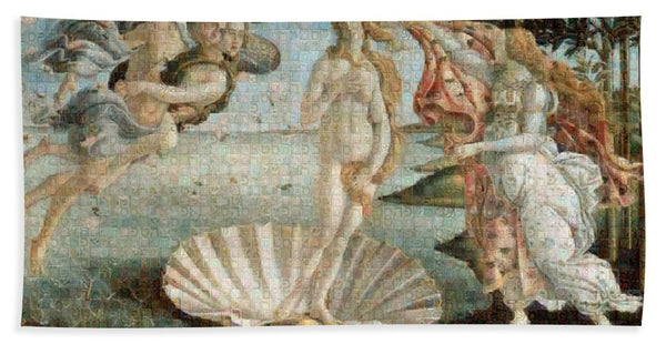 Tribute to Botticelli - Bath Towel - ALEFBET - THE HEBREW LETTERS ART GALLERY