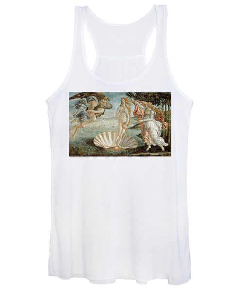 Tribute to Botticelli - Women's Tank Top - ALEFBET - THE HEBREW LETTERS ART GALLERY