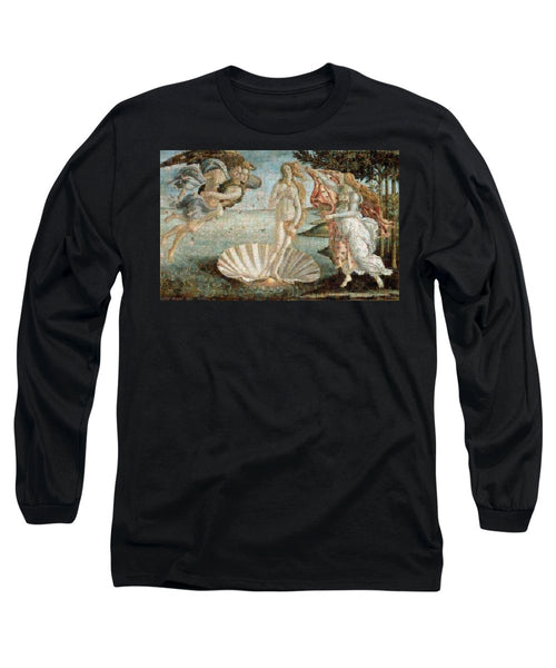 Tribute to Botticelli - Long Sleeve T-Shirt - ALEFBET - THE HEBREW LETTERS ART GALLERY