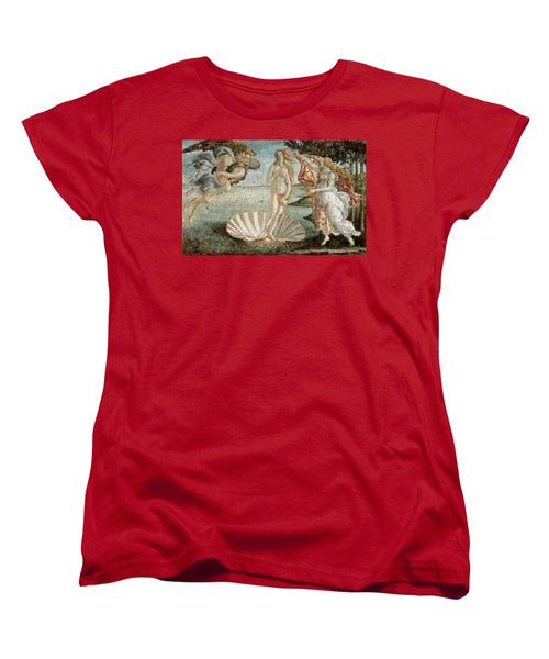 Tribute to Botticelli - Women's T-Shirt (Standard Fit) - ALEFBET - THE HEBREW LETTERS ART GALLERY