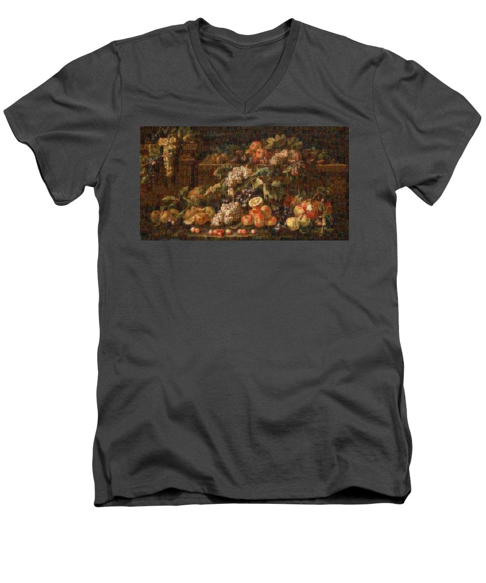 Tribute to Bruegel - Men's V-Neck T-Shirt - ALEFBET - THE HEBREW LETTERS ART GALLERY
