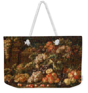 Tribute to Bruegel - Weekender Tote Bag - ALEFBET - THE HEBREW LETTERS ART GALLERY