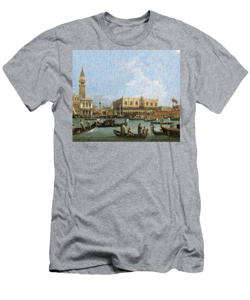 Tribute to Canaletto - T-Shirt - ALEFBET - THE HEBREW LETTERS ART GALLERY