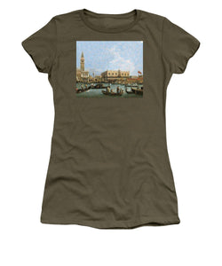Tribute to Canaletto - Women's T-Shirt - ALEFBET - THE HEBREW LETTERS ART GALLERY