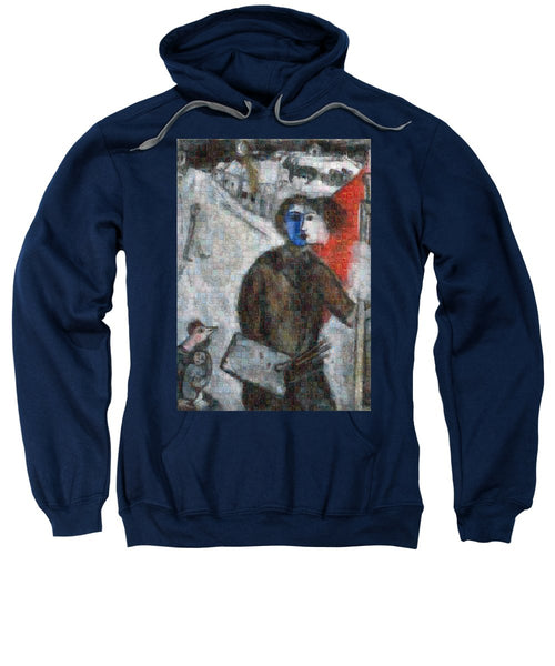 Tribute to Chagall . 3 - Sweatshirt - ALEFBET - THE HEBREW LETTERS ART GALLERY