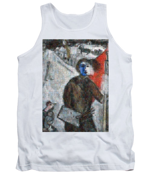 Tribute to Chagall . 3 - Tank Top - ALEFBET - THE HEBREW LETTERS ART GALLERY
