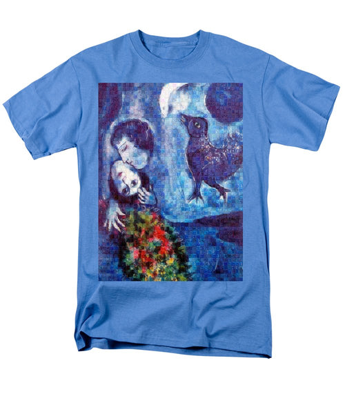 Tribute to Chagall . 4 - Men's T-Shirt  (Regular Fit) - ALEFBET - THE HEBREW LETTERS ART GALLERY