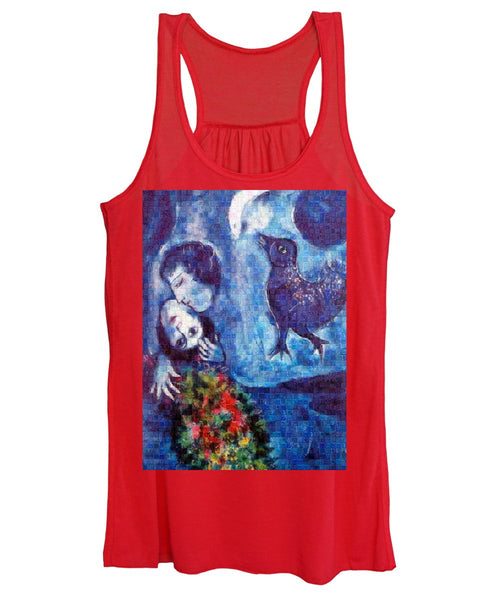Tribute to Chagall . 4 - Women's Tank Top - ALEFBET - THE HEBREW LETTERS ART GALLERY