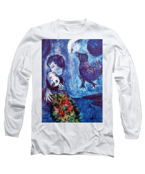 Tribute to Chagall . 4 - Long Sleeve T-Shirt - ALEFBET - THE HEBREW LETTERS ART GALLERY