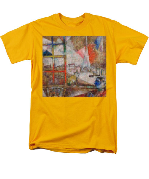 Tribute to Chagall . 5 - Men's T-Shirt  (Regular Fit) - ALEFBET - THE HEBREW LETTERS ART GALLERY