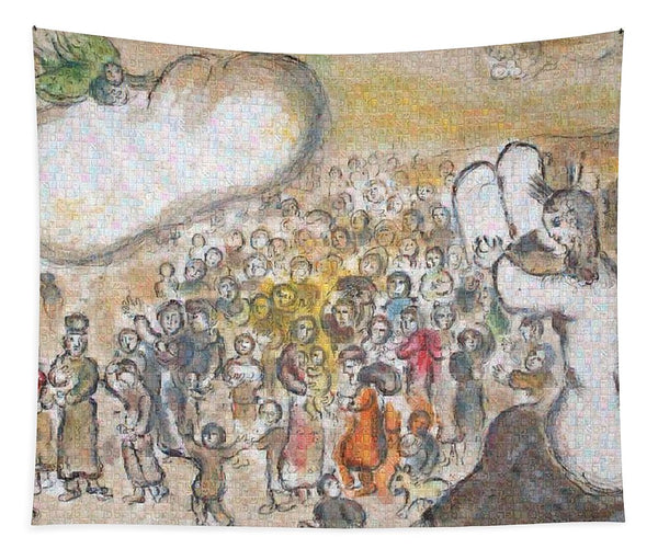 Tribute to Chagall - 6 - Tapestry - ALEFBET - THE HEBREW LETTERS ART GALLERY