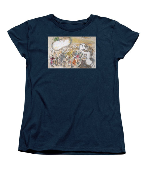 Tribute to Chagall - 6 - Women's T-Shirt (Standard Fit) - ALEFBET - THE HEBREW LETTERS ART GALLERY