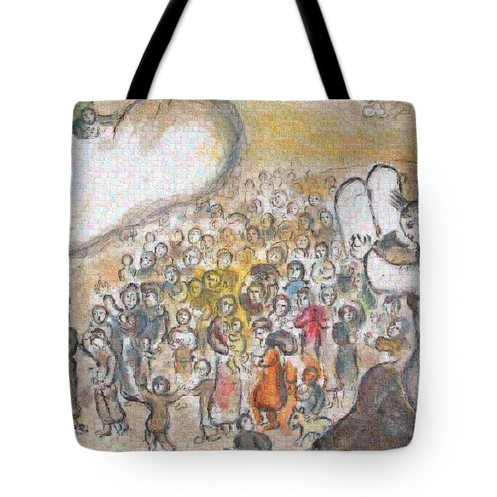 Tribute to Chagall - 6 - Tote Bag - ALEFBET - THE HEBREW LETTERS ART GALLERY