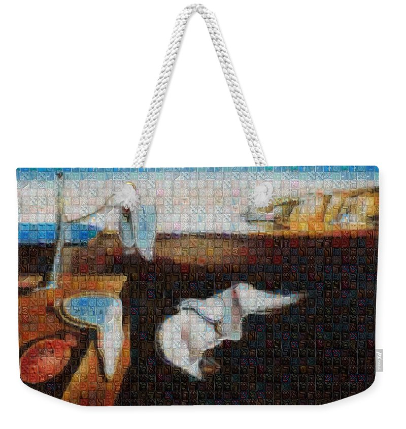 Tribute to Dali - 1 - Weekender Tote Bag - ALEFBET - THE HEBREW LETTERS ART GALLERY
