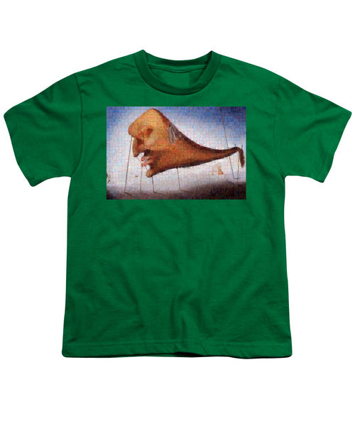 Tribute to Dali - 2 - Youth T-Shirt - ALEFBET - THE HEBREW LETTERS ART GALLERY