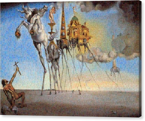 Tribute to Dali - 3 - Canvas Print - ALEFBET - THE HEBREW LETTERS ART GALLERY