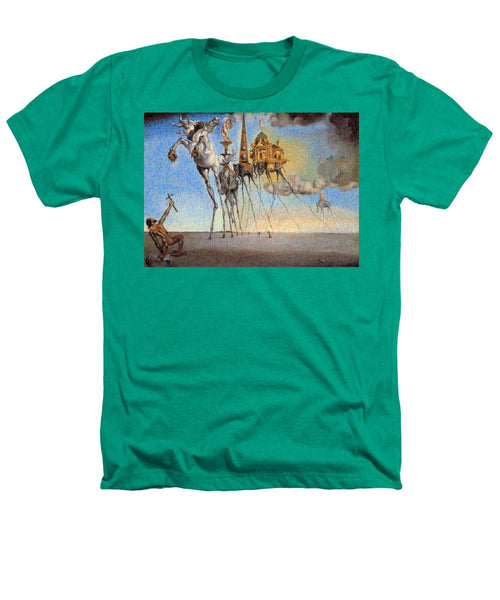 Tribute to Dali - 3 - Heathers T-Shirt - ALEFBET - THE HEBREW LETTERS ART GALLERY