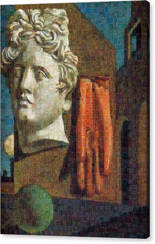 Tribute to De Chirico - 2 - Canvas Print - ALEFBET - THE HEBREW LETTERS ART GALLERY
