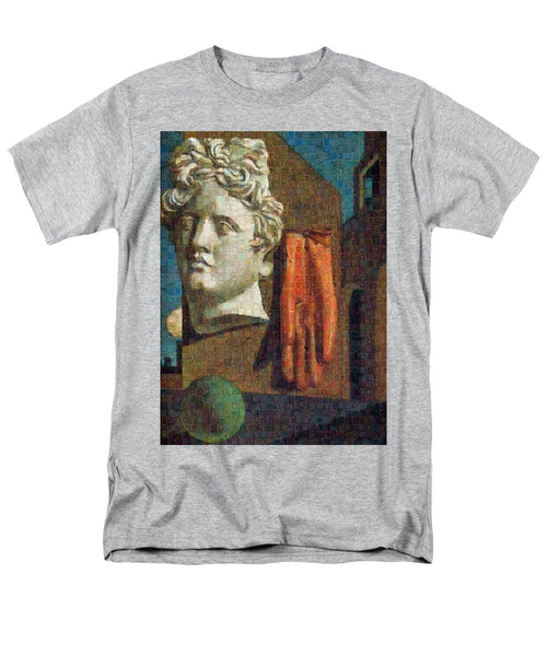 Tribute to De Chirico - 2 - Men's T-Shirt  (Regular Fit) - ALEFBET - THE HEBREW LETTERS ART GALLERY