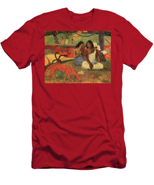 Tribute to Gaugin - T-Shirt - ALEFBET - THE HEBREW LETTERS ART GALLERY