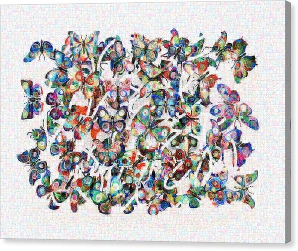 Tribute to David Gerstein - Canvas Print - ALEFBET - THE HEBREW LETTERS ART GALLERY