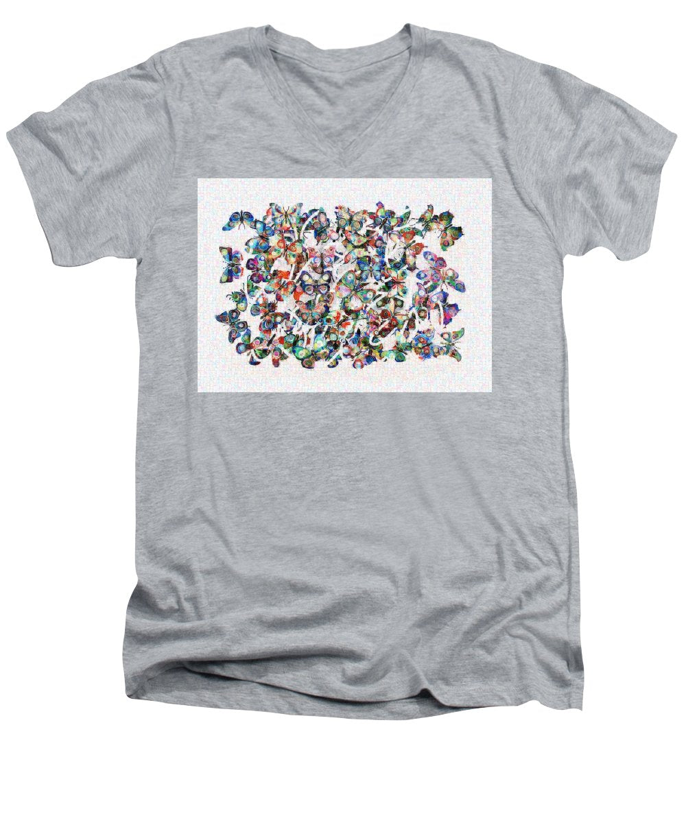 Tribute to Gestein - Men's V-Neck T-Shirt - ALEFBET - THE HEBREW LETTERS ART GALLERY